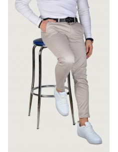 Erkek Keten Pantolon Gri