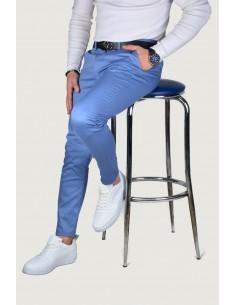 Erkek Keten Pantolon Açık Mavi